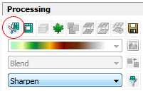 Image Analysis Toolbar Clip Button
