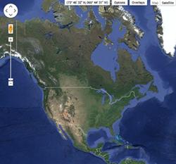 USGS Earth Explorer UI