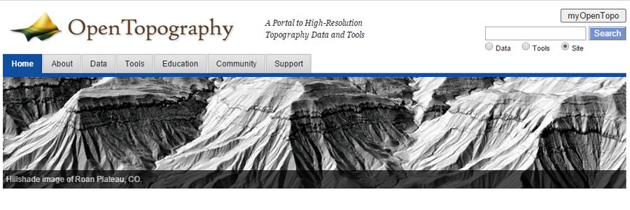 Open Topography LiDAR GIS Data