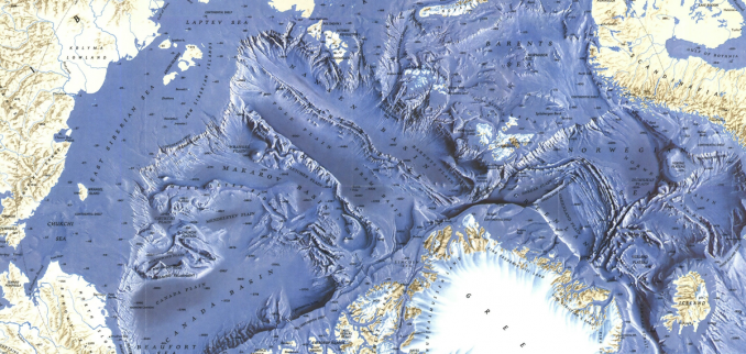 Arctic Maps Ocean Floor