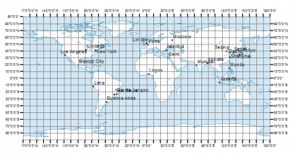 Latitude Longitude And Coordinate System Grids GIS Geography - Us map with coordinate grid