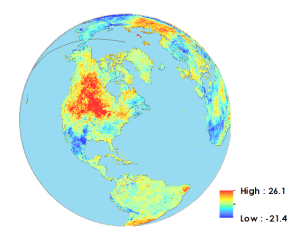 Land Surface Temperature Difference