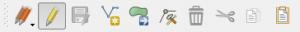 QGIS Editing Toolbar