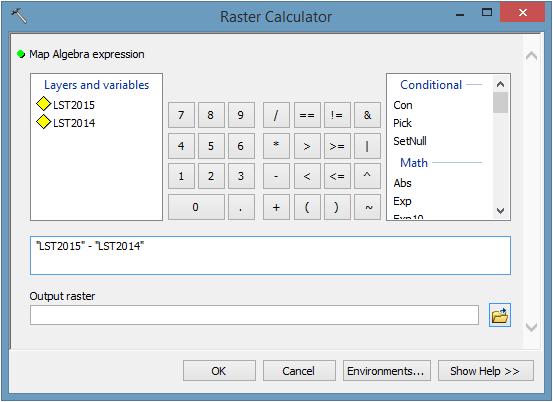 Raster Calculator