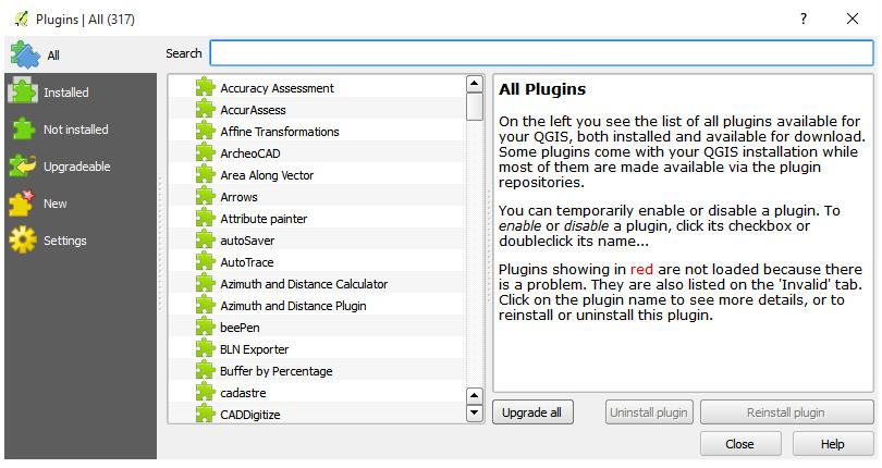 QGIS Plugins Repository