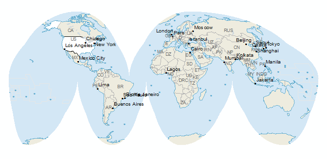 Map Projections Flatten The Sphere GIS Geography - Us globe map