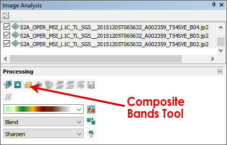 Composite Bands Image Analysis Toolbar