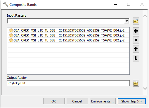 Composite Bands Tool ArcGIS