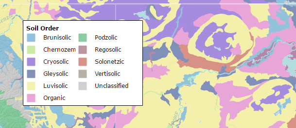 Define your key features symbology with a map legend gis geography soils map legend gumiabroncs Choice Image