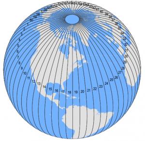 UTM Zones Globe