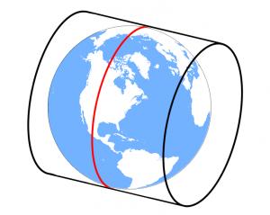 Universe Transverse Mercator Cylinder