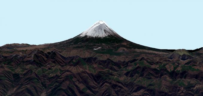 Mt Fuji 3D Sentinel 2b