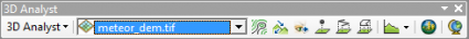 Toolbar 3D analyst