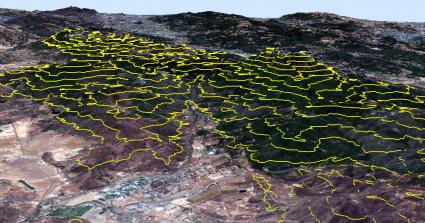 Napa Valley Contours 3D