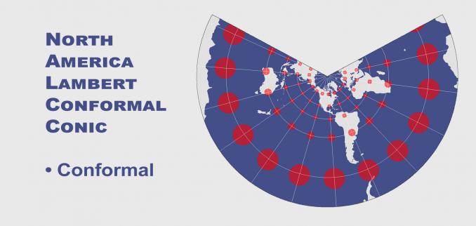 Tissot's indicatrix North American Lamert Conformal Conic