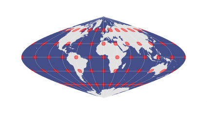 Sinusoidal Equal Area Projection