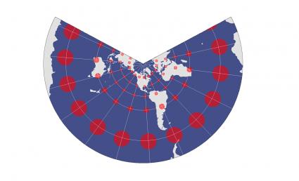 North American Lambert Conformal Conic Projection - Conformal