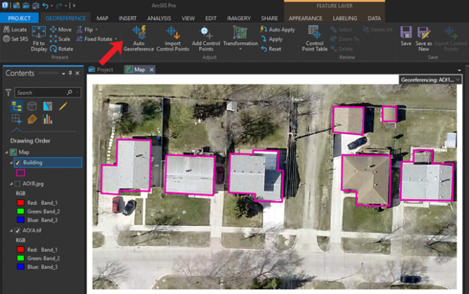 arcgis pro automatic georeference tutorial