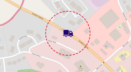 geofence delivery example