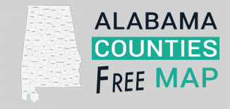 Alabama County Map Feature