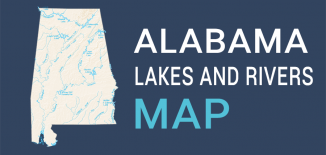 Alabama Lakes Rivers Map Feature