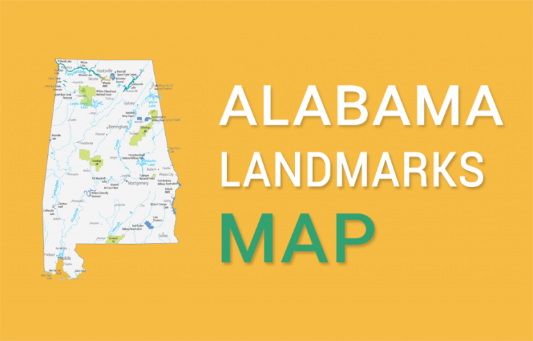 Alabama State Map – Places and Landmarks