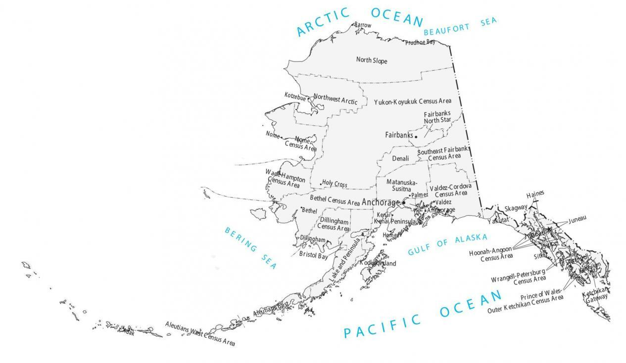 Alaska County Map