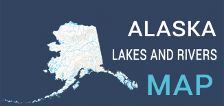Alaska Lakes Rivers Map Feature