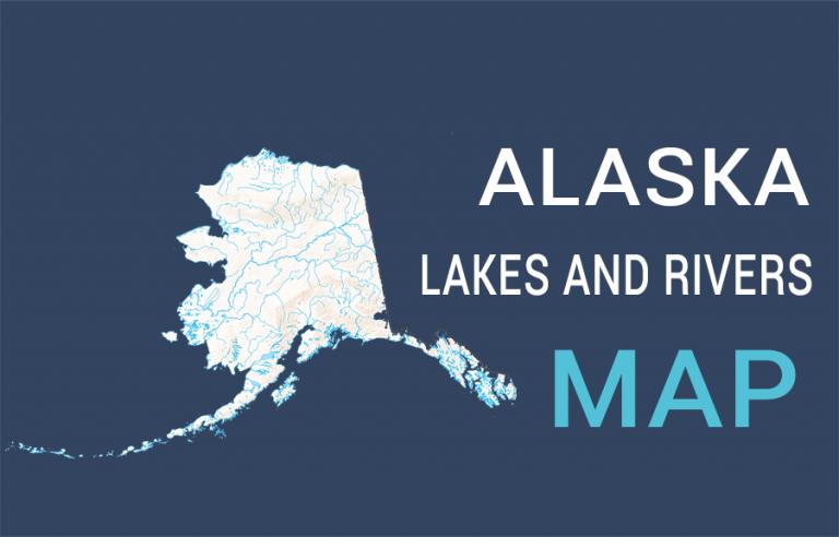 Alaska Lakes and Rivers Map