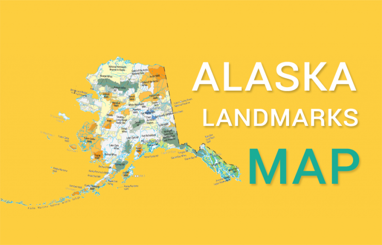 Alaska State Map – Places and Landmarks