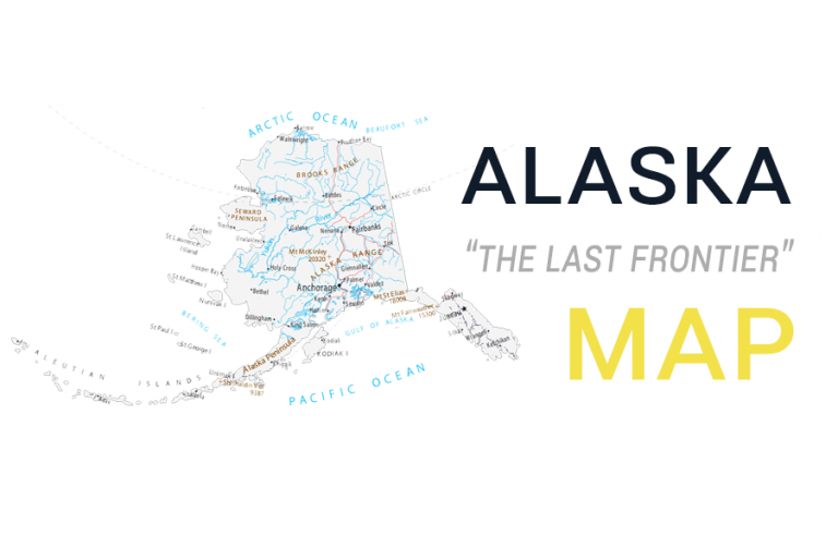 Map of Alaska – Cities and Roads