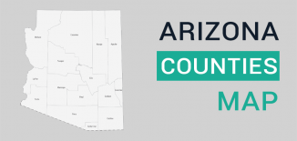Arizona County Map Feature