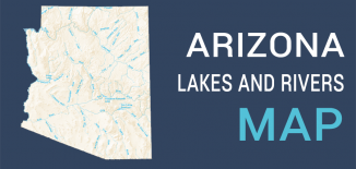 Arizona Lakes Rivers Map Feature