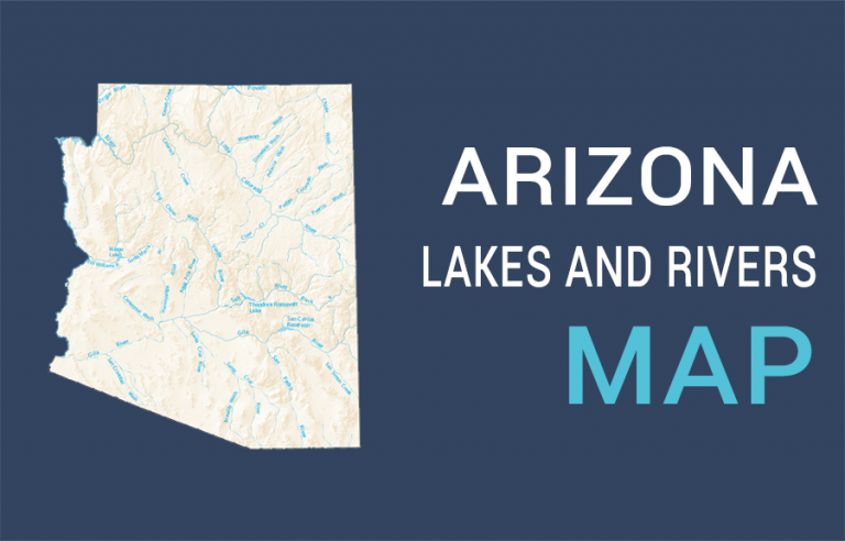 Arizona Lakes and Rivers Map