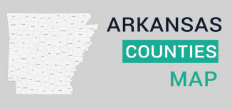 Arkansas County Map Feature