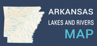 Arkansas Lakes Rivers Map Feature