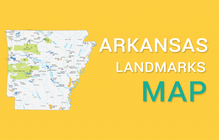 Arkansas State Map – Places and Landmarks