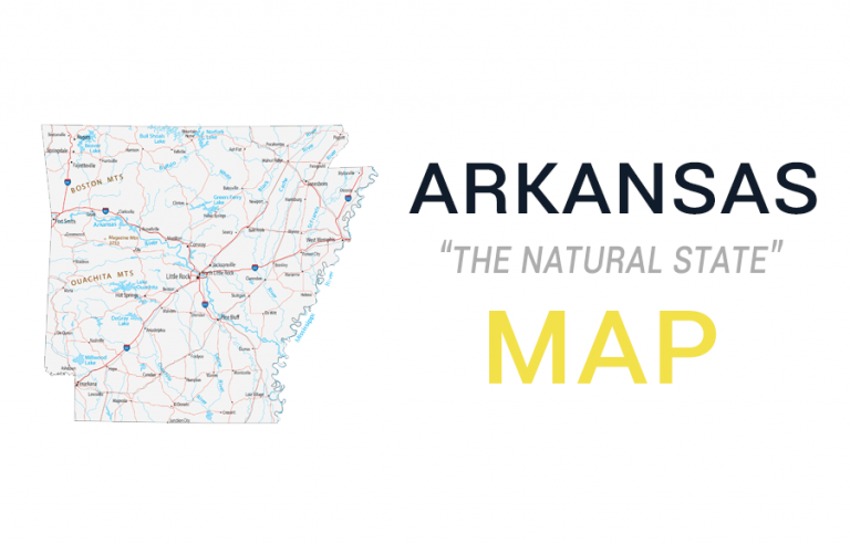 Map of Arkansas – Cities and Roads