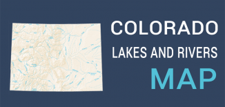 Colorado Lakes Rivers Map Feature