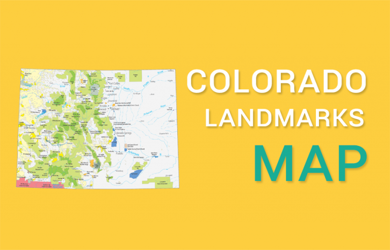 Colorado State Map – Landmarks and Places