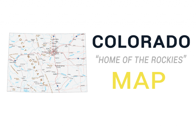Map of Colorado – Cities and Roads