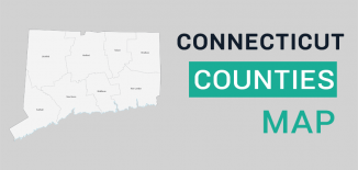 Connecticut County Map Feature