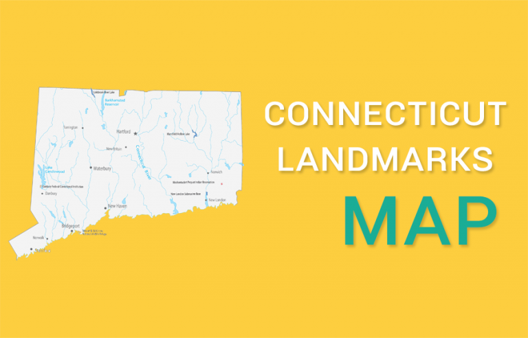 Connecticut State Map – Places and Landmarks