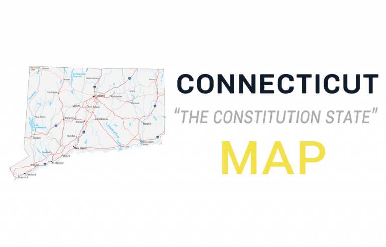 Map of Connecticut – Cities and Roads
