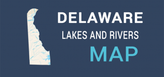 Delaware Lakes Rivers Map Feature