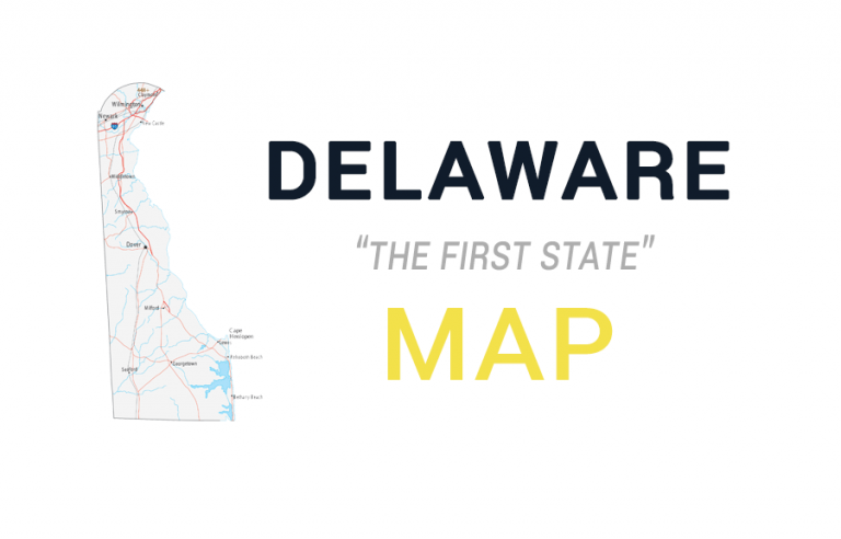Map of Delaware – Cities and Roads
