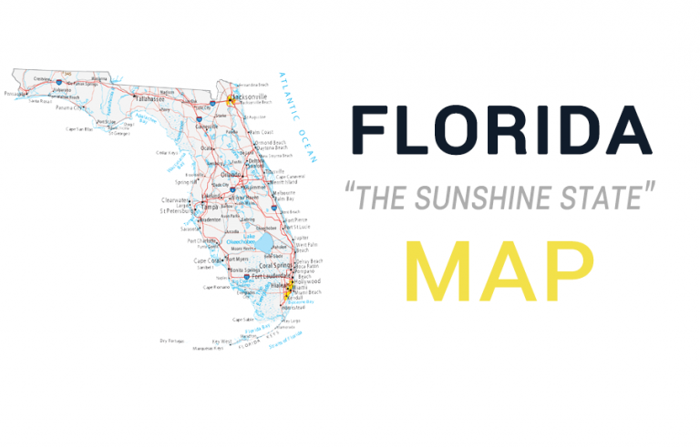 Map of Florida – Cities and Roads
