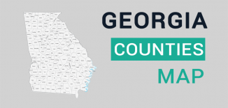 Georgia County Map Feature