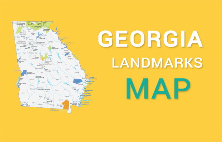 Georgia State Map – Places and Landmarks