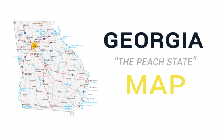 Map of Georgia – Cities and Roads